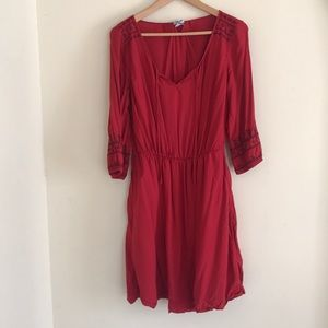 FLOWY RED OLD NAVY DRESS